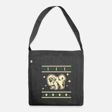Tibetan Tibetan Mastiff Christmas Gift - Shoulder Bag made from recycled material