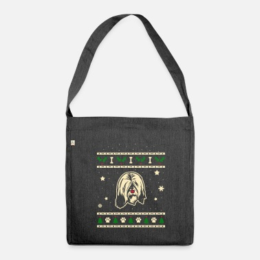Tibetan Tibetan Terrier Christmas Gift - Shoulder Bag made from recycled material