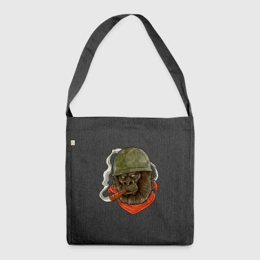 Cool Monkey GORILLA Military Shirt I Gift - Shoulder Bag made from recycled material