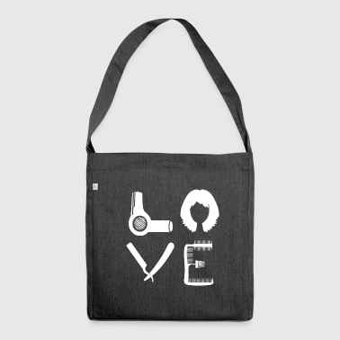 LOVE hairdresser - hairdresser, hairdresser and stylist - Shoulder Bag made from recycled material