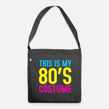 80s 80s costume - Shoulder Bag made from recycled material