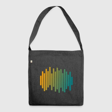 Audio Waveform - Schultertasche aus Recycling-Material