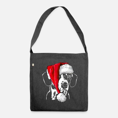 ENTLEBUCHER MORNING DOG Christmas hat Wilsigns - Shoulder Bag made from recycled material