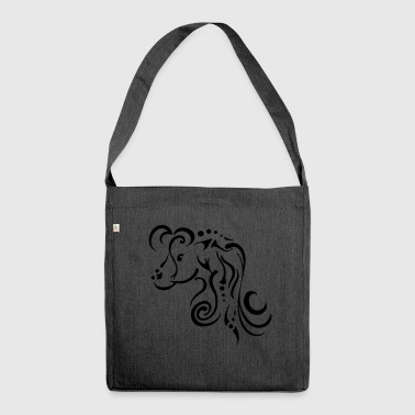Mare, clean tribal design - Shoulder Bag made from recycled material