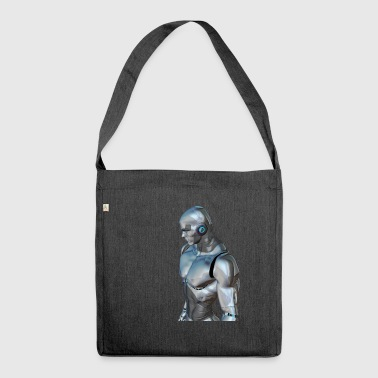 Silber Cyborg - Schultertasche aus Recycling-Material