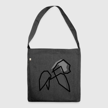 gorilla monkey gift idea silverback - Shoulder Bag made from recycled material