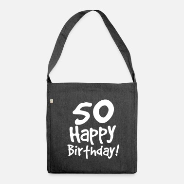 50th Birthday 50th birthday - Shoulder Bag recycled