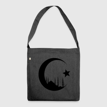Mosque Crescent with mosque - Shoulder Bag made from recycled material