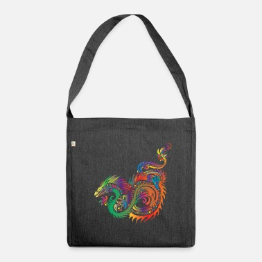 Dragon Tribal Dragon - Tribal - Sac bandoulière 100 % recyclé