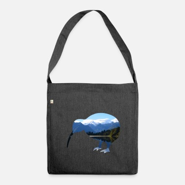 Kiwi Mount Cook - Kiwi - Newzealand - Schultertasche aus Recycling-Material