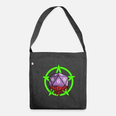Playing Dice RPG Game Role Playing 666 with Pentagram - Shoulder Bag recycled