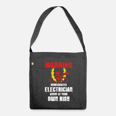 Electricity Electrician Electricity Electricity Electricity Gift - Shoulder Bag recycled