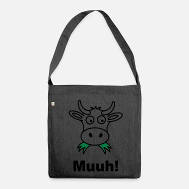 Cow cow - Shoulder Bag made from recycled material