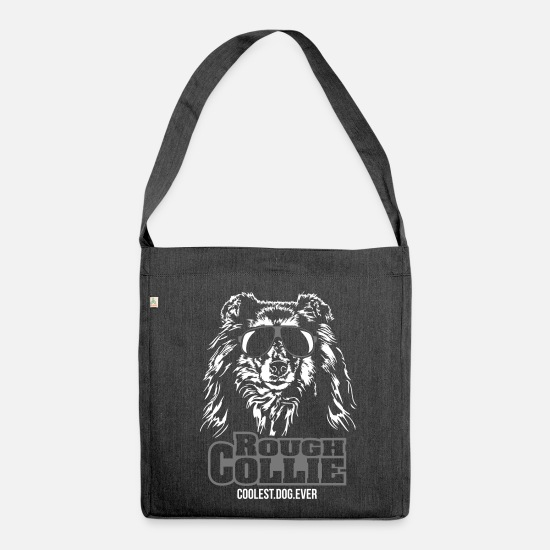Dog Owner Bags & Backpacks - ROUGH COLLIE coolest dog ever - Shoulder Bag recycled heather black