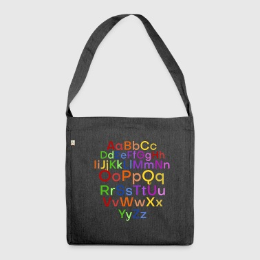alphabet - Shoulder Bag made from recycled material