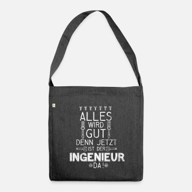 Civil Engineering engineer civil engineer electrician gift - Shoulder Bag made from recycled material