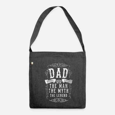 Fathers Day Father Father's Day Father's Day - Shoulder Bag made from recycled material