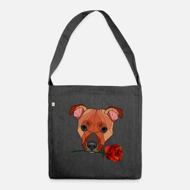 Bull Terrier Staffordshire Bull Terrier - Maira - Shoulder Bag made from recycled material