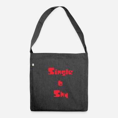 Shy Single and shy, single and shy, red - Shoulder Bag made from recycled material
