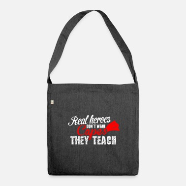 Teaching teach hero teach - Shoulder Bag made from recycled material