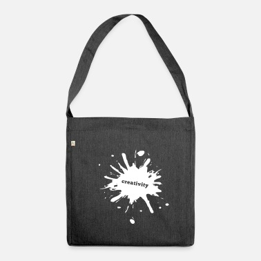 Paint Splatter Paint splatter blob - Shoulder Bag recycled