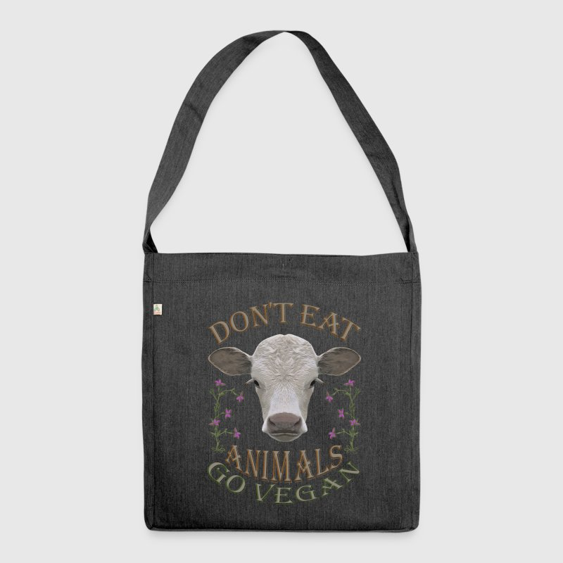 DON'T EAT ANIMALS - Schultertasche aus Recycling-Material