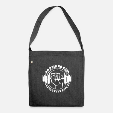 No Pain No Gain No Pain No Gain - Fitness - Sac bandoulière 100 % recyclé