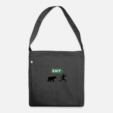 Theatre 'Exit, pursued by a bear' - Shakespeare - Shoulder Bag made from recycled material