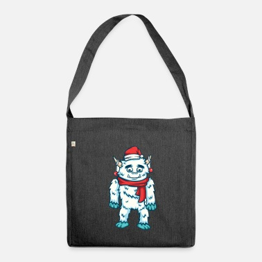 Divertente Natale Yeti Winter Monster Gift - Borsa in materiale riciclato