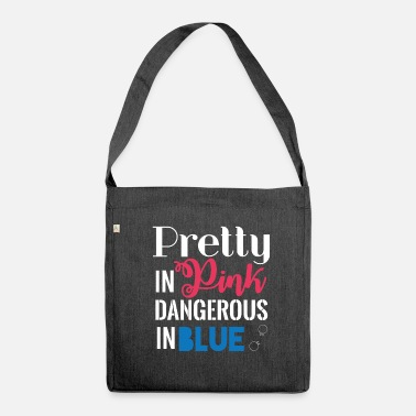 Polizei Polizei: Pretty In Pink, Dangerous In Blue - Schultertasche aus Recycling-Material