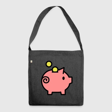 piggy bank - Shoulder Bag made from recycled material