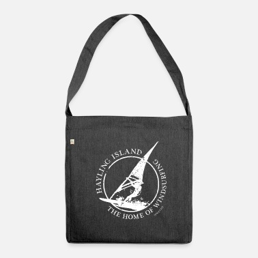 windsurfer white - Shoulder Bag made from recycled material