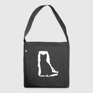 Streaker cat - Shoulder Bag made from recycled material