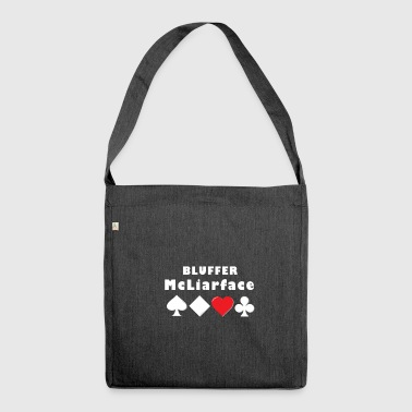Poker bluff lies face gift - Shoulder Bag made from recycled material
