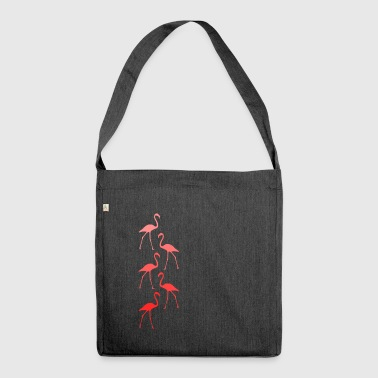 flamingos - Shoulder Bag made from recycled material