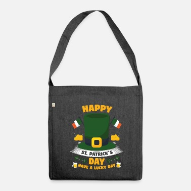 St Patrick´s day! St. Patricks day! - Schultertasche aus Recycling-Material