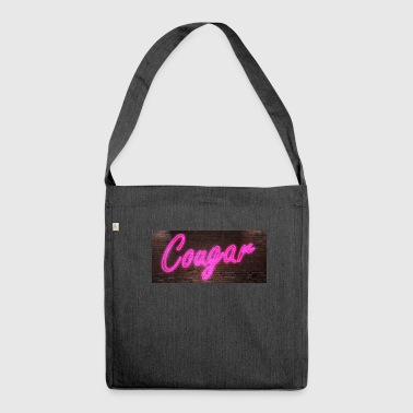Neon neon signs Cougar - Shoulder Bag made from recycled material