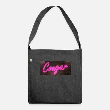Cougar Neon neon signs Cougar - Shoulder Bag made from recycled material