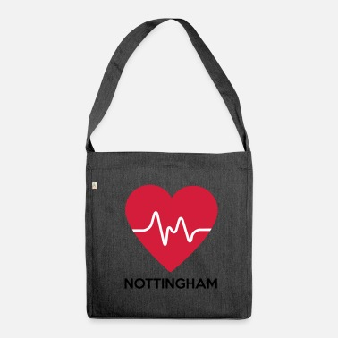 Nottingham Heart Nottingham - Shoulder Bag made from recycled material