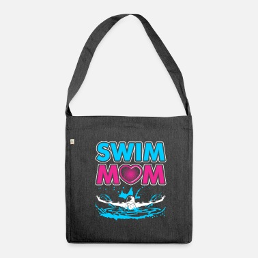 Swim Swim Mom Gift for Mothers of Swimmers - Shoulder Bag recycled