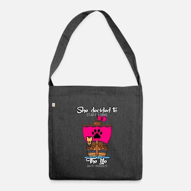 Reboot Cat ship paw pink lifestyle reboot - Shoulder Bag made from recycled material