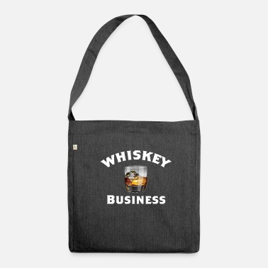 Whiskey Whiskey Funny Design - Whiskey Business - Schoudertas van gerecycled materiaal