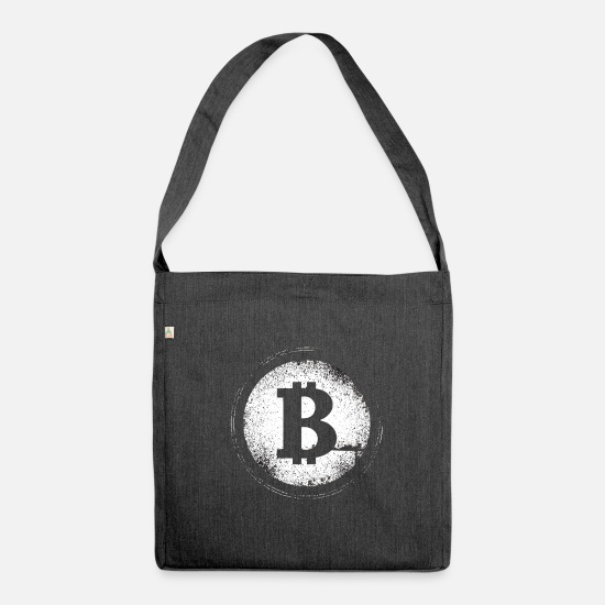 Tech Bags & Backpacks - Crypto Currency - Shoulder Bag recycled heather black