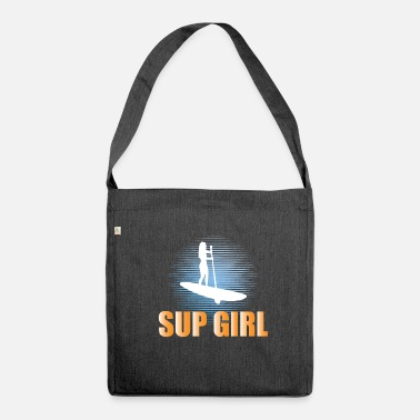 Stand Up Paddleboarding Stand Up Paddleboarding Design Womens - SUP Girl - Shoulder Bag recycled