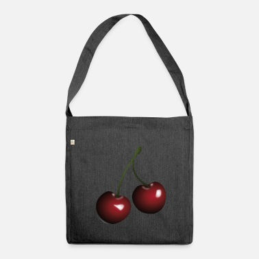 Cherries Cherries cherries - Shoulder Bag made from recycled material