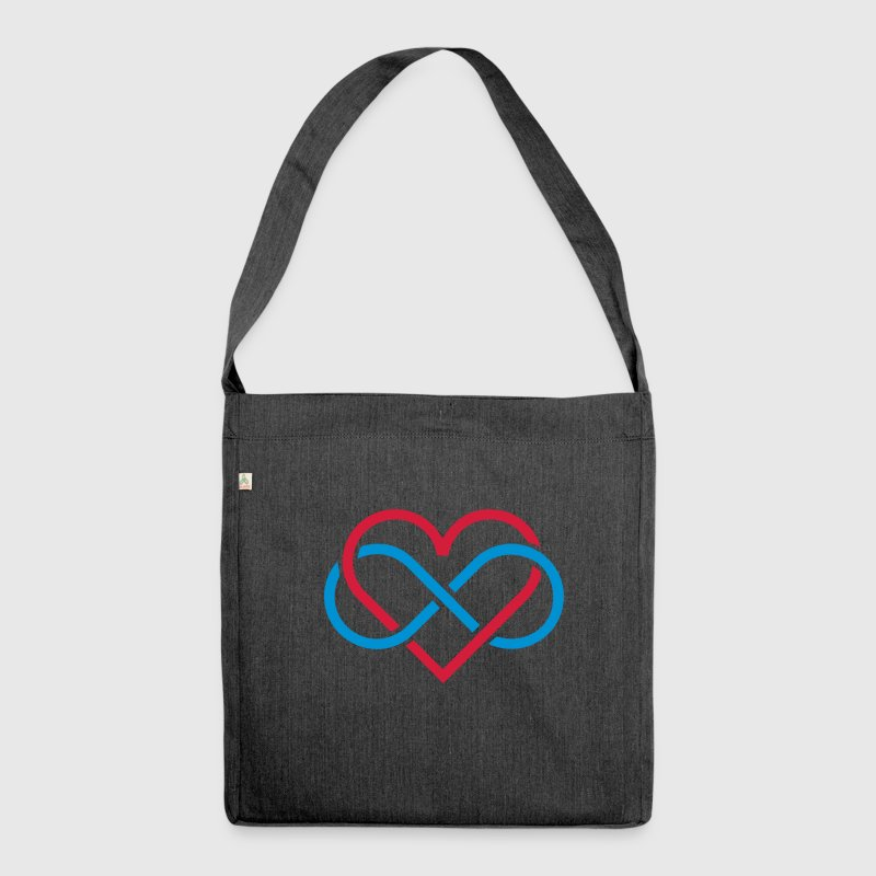 poly heart - Shoulder Bag made from recycled material