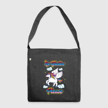 Not Gluten Please - Unicorn Nutrition Health - Shoulder Bag made from recycled material