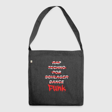 Punk music punk rock - Borsa in materiale riciclato