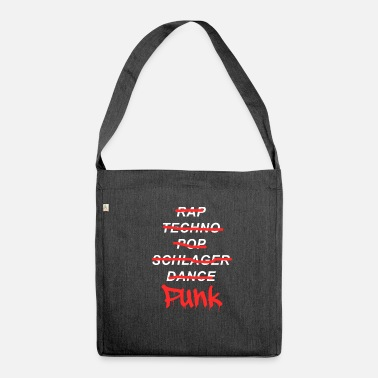 Punk Rock Punk music punk rock - Borsa in materiale riciclato