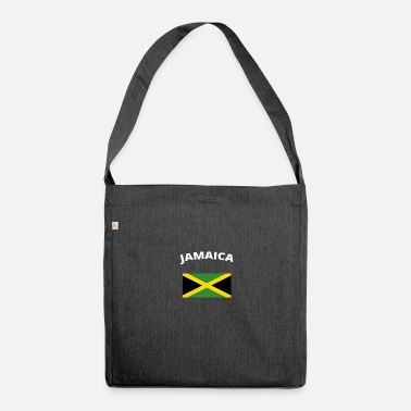 Jamaica I love home homeland love roots JAMAICA - Shoulder Bag made from recycled material